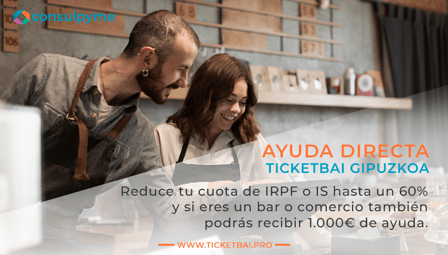 Ayuda para TicketBAI de 1.000 € y reducción del 60% en IRPF o IS